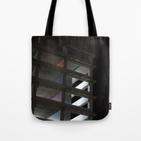 grid Tote Bags featuring grid by jared smith