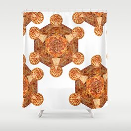 Metatron's Pizza Shower Curtain