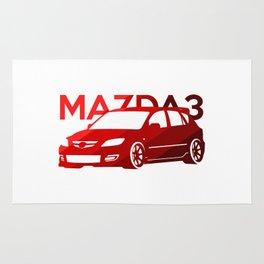 Mazda 3 - classic red - Rug