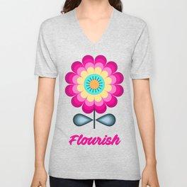 Flower 11 Unisex V-Neck