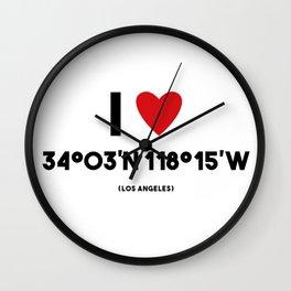 I LOVE LOS ANGELES Wall Clock