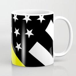 U.S. Flag: Black Flag & The Thin Yellow Line Coffee Mug