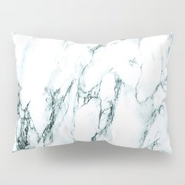 Green Marble Look Pillow Sham
