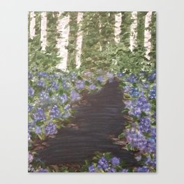 Hydrangeas in the Woods Canvas Print