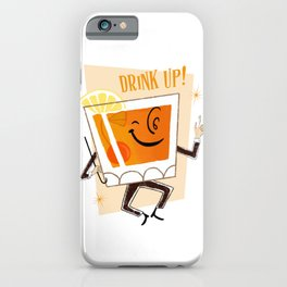 Mr. Whiskey Says Drink Up iPhone Case