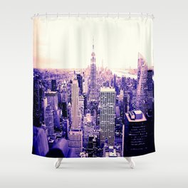 Lavender New York Shower Curtain