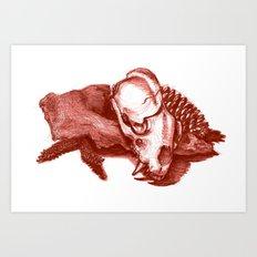 Sketchy Skull Art Print