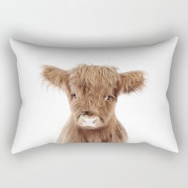 Baby Highland Cow Portrait Rectangular Pillow