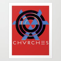 chvrches Art Prints featuring CHVRCHES  by A Fuckin' Teenage Tragedy