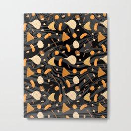 Snack Food Marble Metal Print