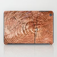 tree rings iPad Cases featuring Tree Rings by rebecca haegele