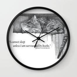 Surrounded by Books Wall Clock