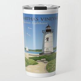 Martha's Vineyard Edgartown Lighthouse Travel Mug