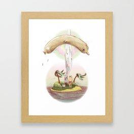Flying dolphin  Framed Art Print