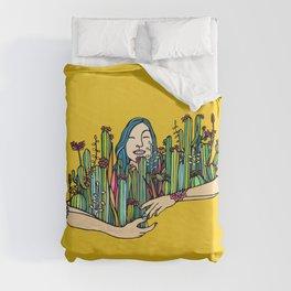 Hug a plant Duvet Cover