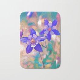 Colorado Blue Columbine -  State Flower Bath Mat
