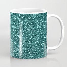 Sparkly Aqua Blue Turquoise Glitter Coffee Mug