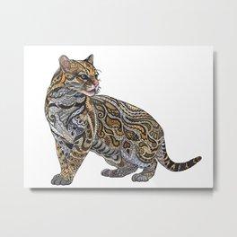 Ocelot Metal Print