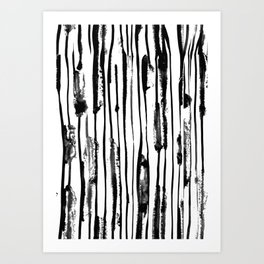 Blotted lines Art Print