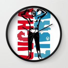 LUCHA LIBRE#60 Wall Clock