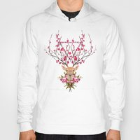 spring Hoodies featuring Spring Deer by Robert Farkas