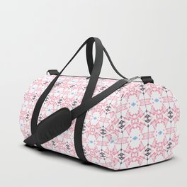 Pink Pastel Cable Pattern Print Duffle Bag