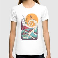 christmas T-shirts featuring Surf Before Christmas by Victor Vercesi