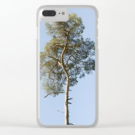 Coniferous Tree Series 3 of 3 Clear iPhone Case