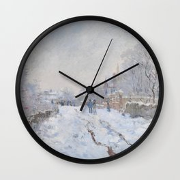 Snow Scene at Argenteuil by Claude Monet Wall Clock