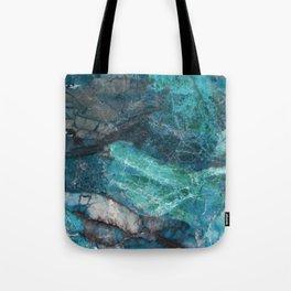Cerulean Blue Marble Tote Bag
