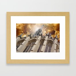 Angry Sainte-Chapelle Framed Art Print