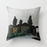 hamlet Throw Pillows featuring the hamlet by Maria Julia Bastias