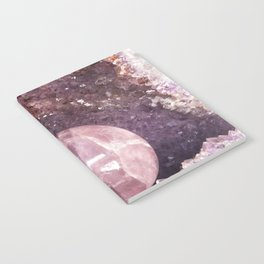 Amethyst and Pink Quartz Gemstone Notebook