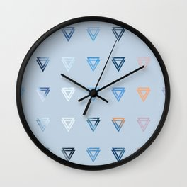 Triniti Diamonds Blue Wall Clock