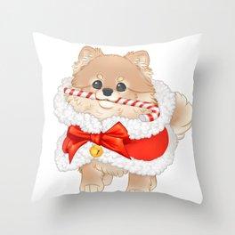Merry fluffmas Throw Pillow