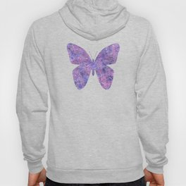 Purple and faux silver swirls doodles Hoody