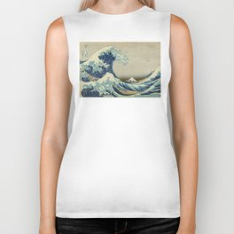 Great Wave of Kanagawa Biker Tank