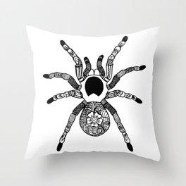 Henna Spider Throw Pillow