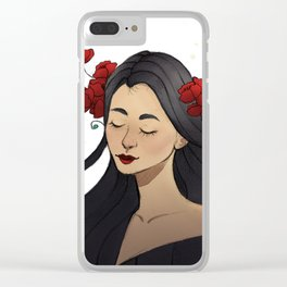 Poppy Girl Clear iPhone Case