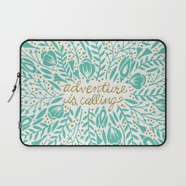 Adventure is Calling – Turquoise & Gold Palette Laptop Sleeve