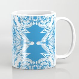 Blue and White Classy Psychedelic Coffee Mug