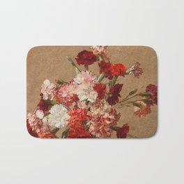 Henri Fantin Latour - Carnations Without Vase Bath Mat