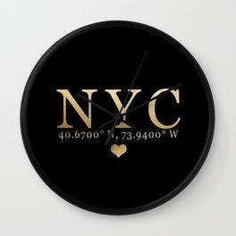 NYC Love Wall Clock