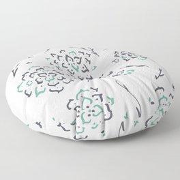 Mantra Flower_blue Floor Pillow