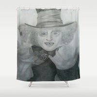mad hatter Shower Curtains featuring Mad hatter by crazy_feline