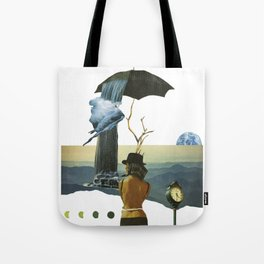 Two Worlds Apart Tote Bag