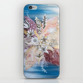 Abstract Fall Flowers iPhone Skin