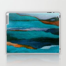 """""""a dark february redux1"""" abstract watercolor painting Laptop & iPad Skin"""