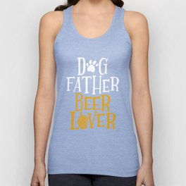 Dog Father Beer Lover Graphic Drinking Dog Dad Tee Gift Unisex Tank Top