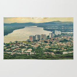 Aerial View of Guayaquil from Window Plane Rug